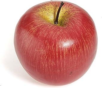 KunmniZ 1 Pieza de Fruta Artificial Realista de Manzana roja para decoraci/ón del hogar Festivales Fiestas