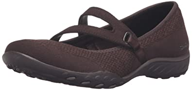 Skechers Women s s Breathe-Easy - Lucky Lady Mary Janes Brown (Chocolate) 2  UK 2762358c4a