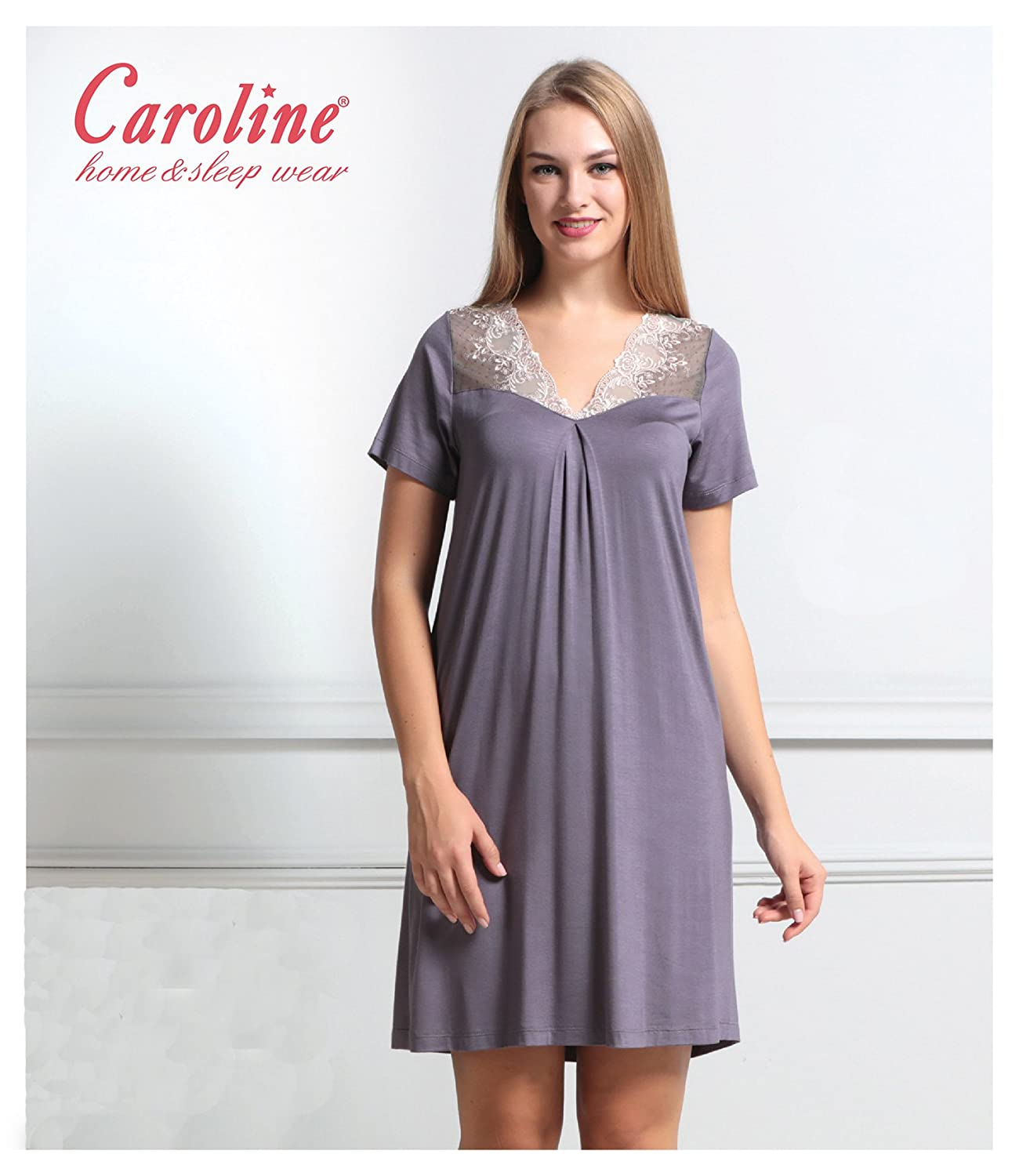 a18e145797 Caroline Short Sleeved Oversized/plussize Comfort Nightgown ...