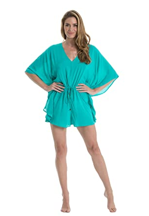 abc29664fca1 Amazon.com  ELAN Jade Romper with Butterfly Sleeves  Clothing