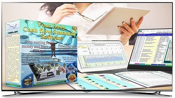 amazon com daily cash flow statement spreadsheet download software