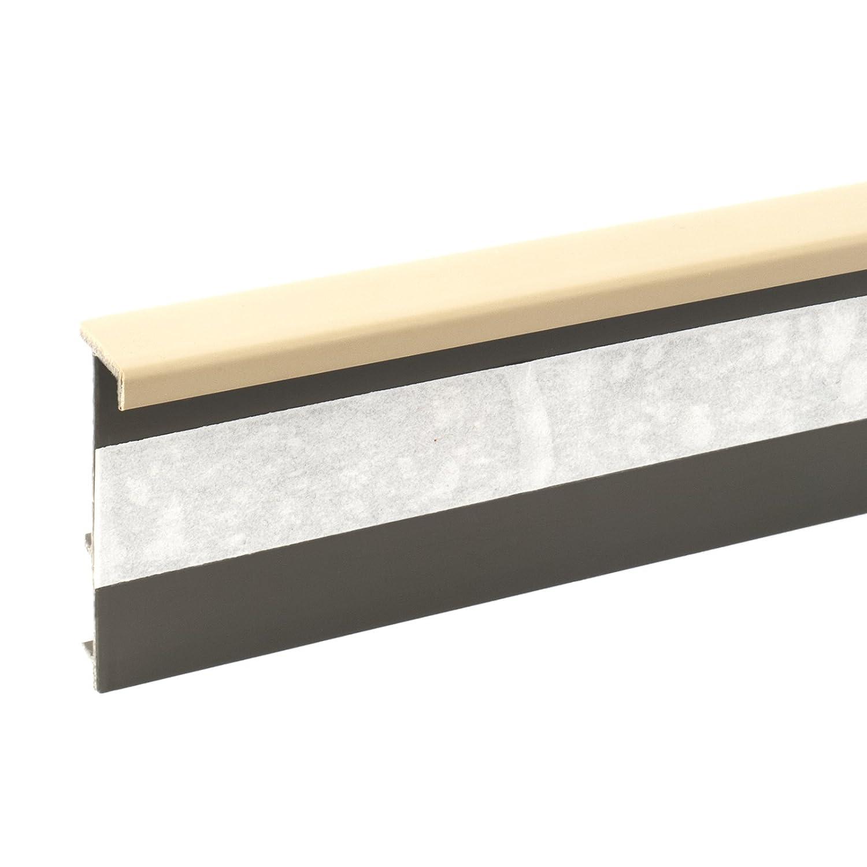 57mm x 255cm Kunststoff-Sockelleiste Fussleiste Scheuerleiste f/ür Teppichboden mit Kabelkanal grau