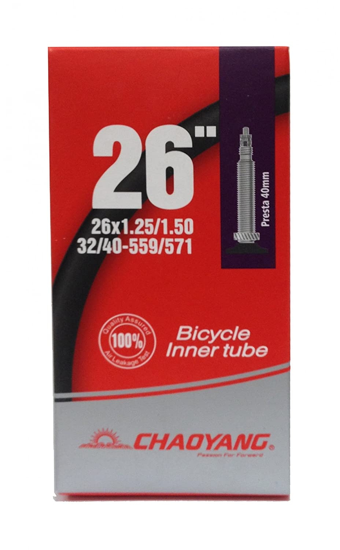 MSC Bikes Standart Tube Cámara De Aire, Negro, 26 x 1,25/1,50 FV Chaoyange Europe S.L CHY081307