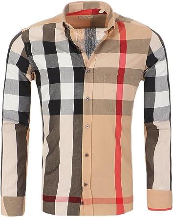 BURBERRY BRIT Camisa para Hombre de Corte Ajustado, Tamaño:XL, Color:Muestra Burberry: Amazon.es: Ropa y accesorios