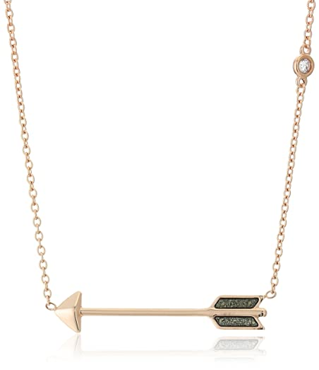 arrow dual necklace front gold gods zumiez the