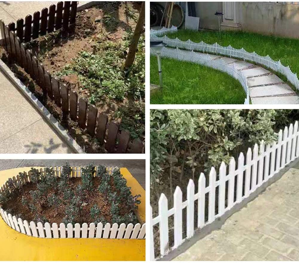 ZHANWEI Valla de jardín Bordura de jardín Blanco Césped Fronteras ...