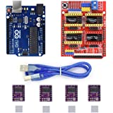 Witbot CNC Shield Expansion Board V3.0 +UNO R3 Board for Arduino+ drv8825 Stepper Motor Driver With Heatsink Kits for Arduino