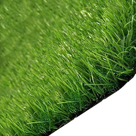 AQAWAS Cesped sintético Hierba Alfombra para el jardín, 1,5 cm de Espesor, Tóxico Césped Sintético, Tamaños múltiples, Fácil De Limpiar Y Guardar,Army Green_2x4m/6x12ft: Amazon.es: Hogar