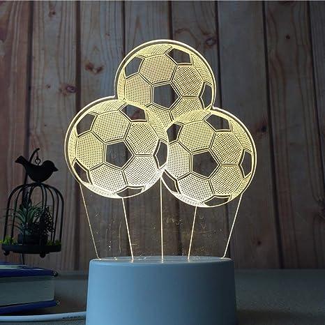 Amiubo 3D Illusion Lámpara Luz de noche Al lado de lámpara de mesa ...