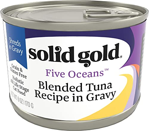 Solid Gold – Five Oceans Holistic Grain-Free Wet Cat Food for All Life Stages – Real Seafood with Gravy