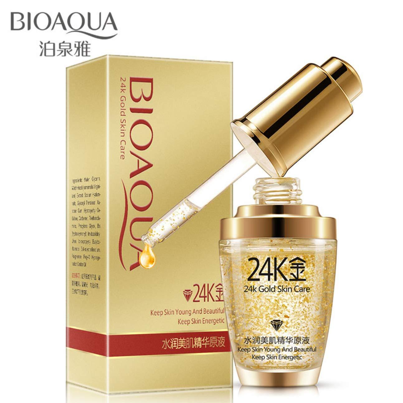 BIOAQUA 24K Gold Essence Collagen Skin Face Moisturizing Hyaluronic Acid Anti-Aging Mask Natural Extract