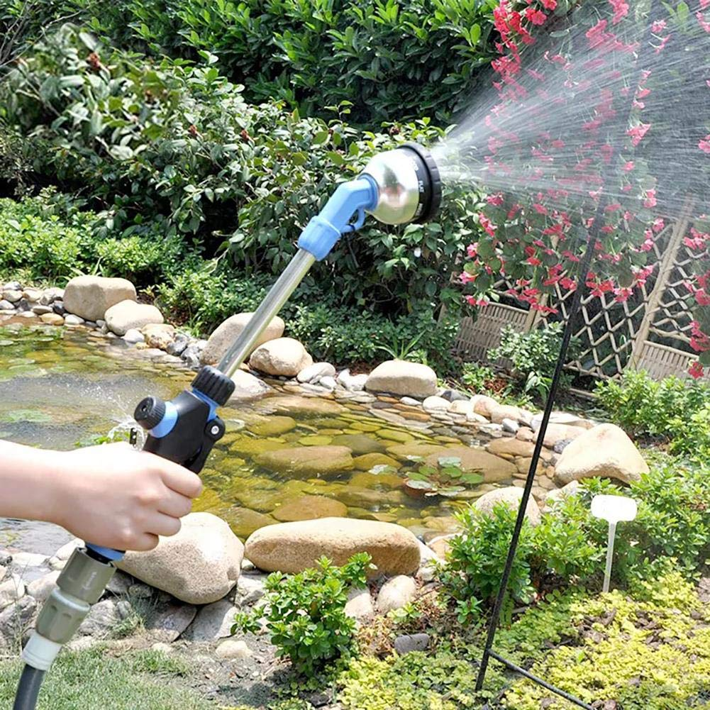 Molie Garden Water Wand Hose Nozzle Sprayer Adjustable Car Washer Spray Nozzl Garden Multi-Functional Long Rod Airbrush Adjustable Nozzle Water Hose Water Sprinkler