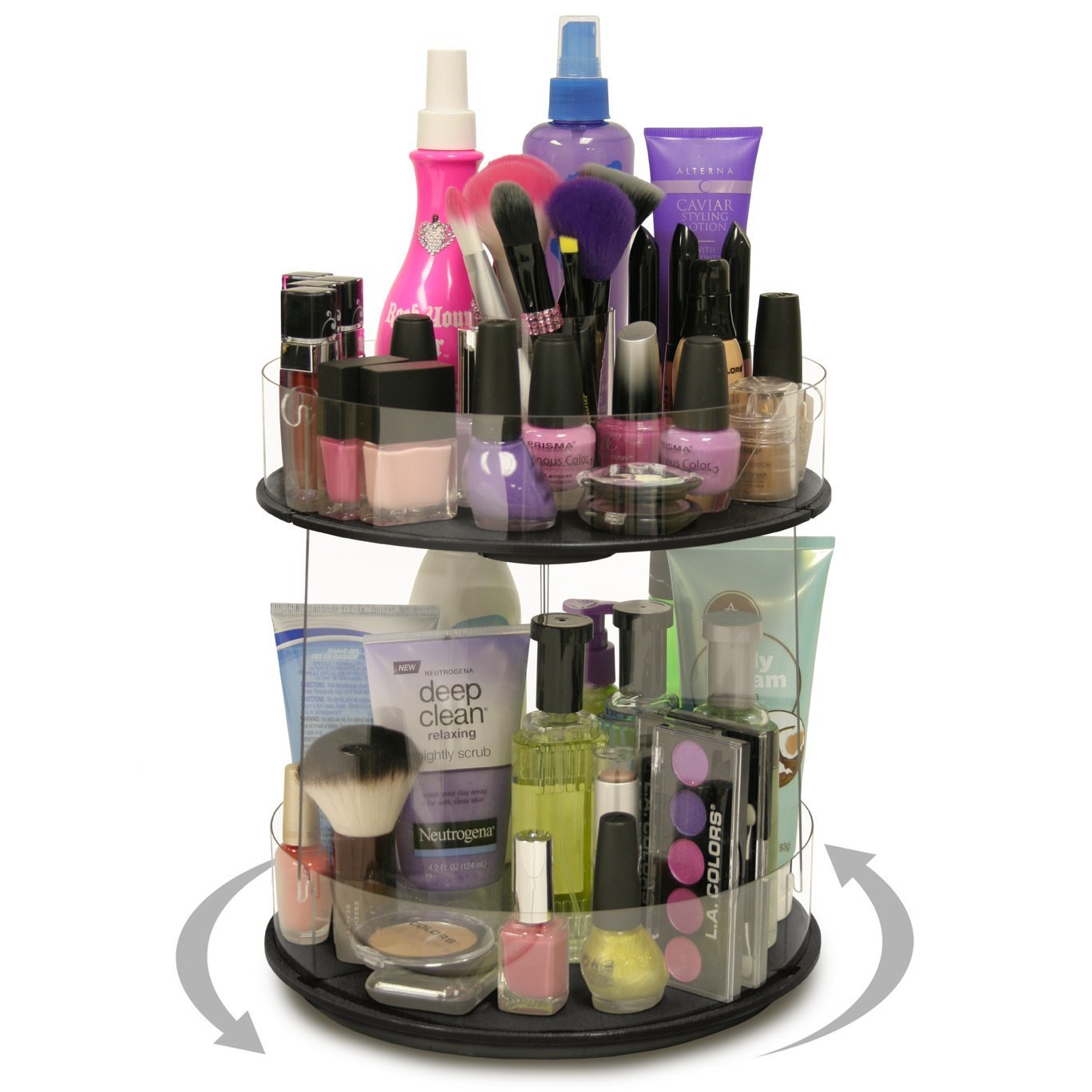 Makeup Organizer, This Mini Spinner Only needs 10 of Counter and You Are Doubling Your Storage Proudly Made in the USA by PPM.