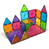 Trinkets & More - 3D Premium Magnetic Tiles (69 Pieces) Toys | Building Tiles Stacking Set | Magical Construction Game Puzzle | STEM with Storage Box