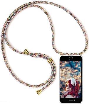 Carcasa Transparente TPU Suave Silicona Case con Correa Colgante Ajustable Collar Correa de Cuello Cadena Cord/ón Funda con Cuerda para Samsung Galaxy S20 Plus Oro Rosa