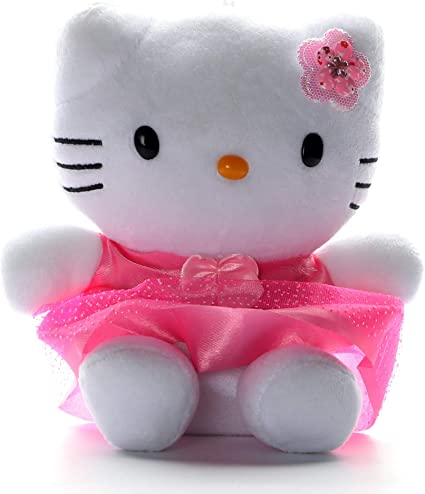 HC Toys LLP Kids Polyester Plush Stuff Hello Kitty Soft Toy (White)