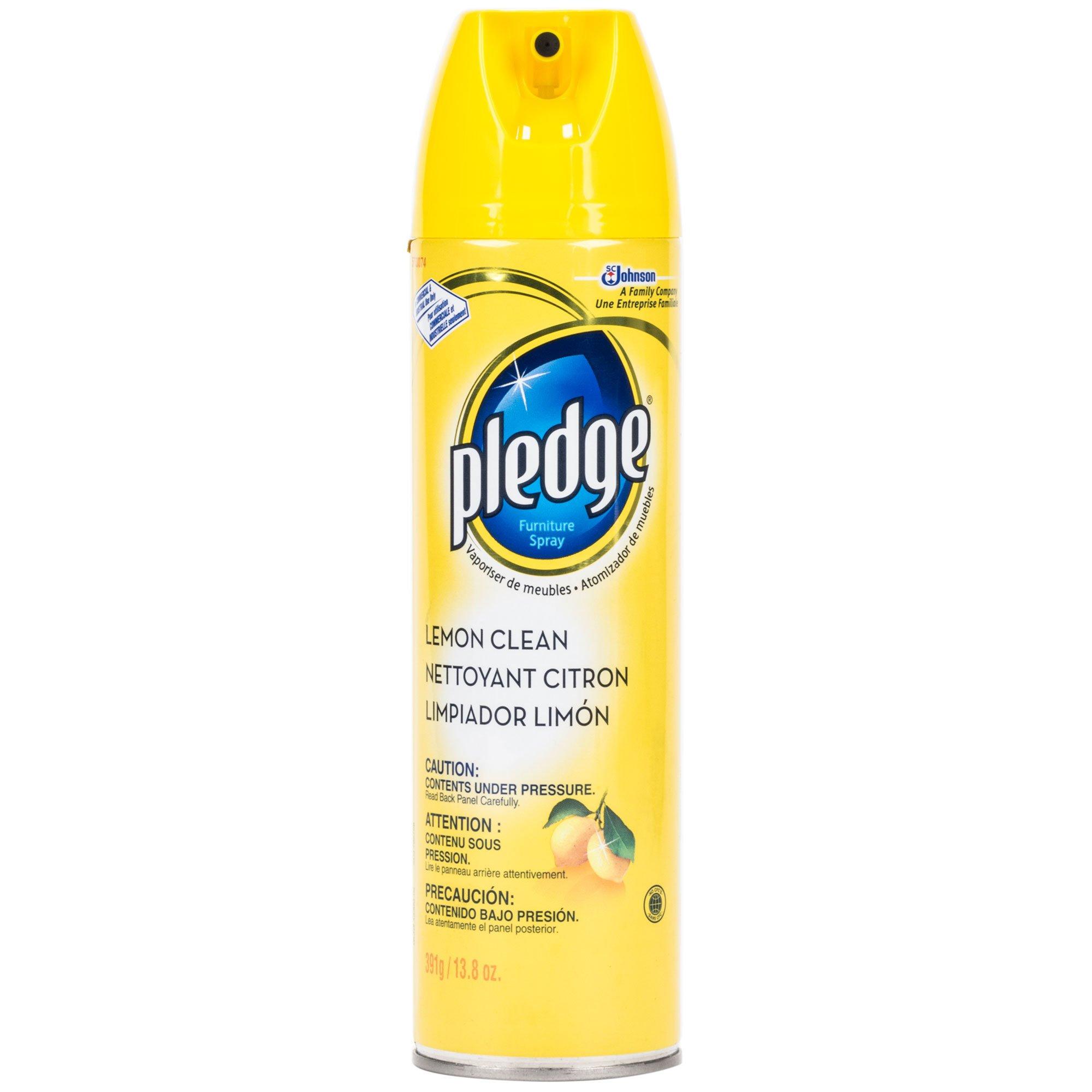 Pledge Furniture Spray (Lemon Clean, Aerosol, 13.8-Ounce, Case of 6)