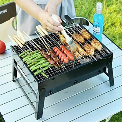 ISbonusIS Portable BBQ Grill Charcoal Outdoor Camping: Garden & Outdoor