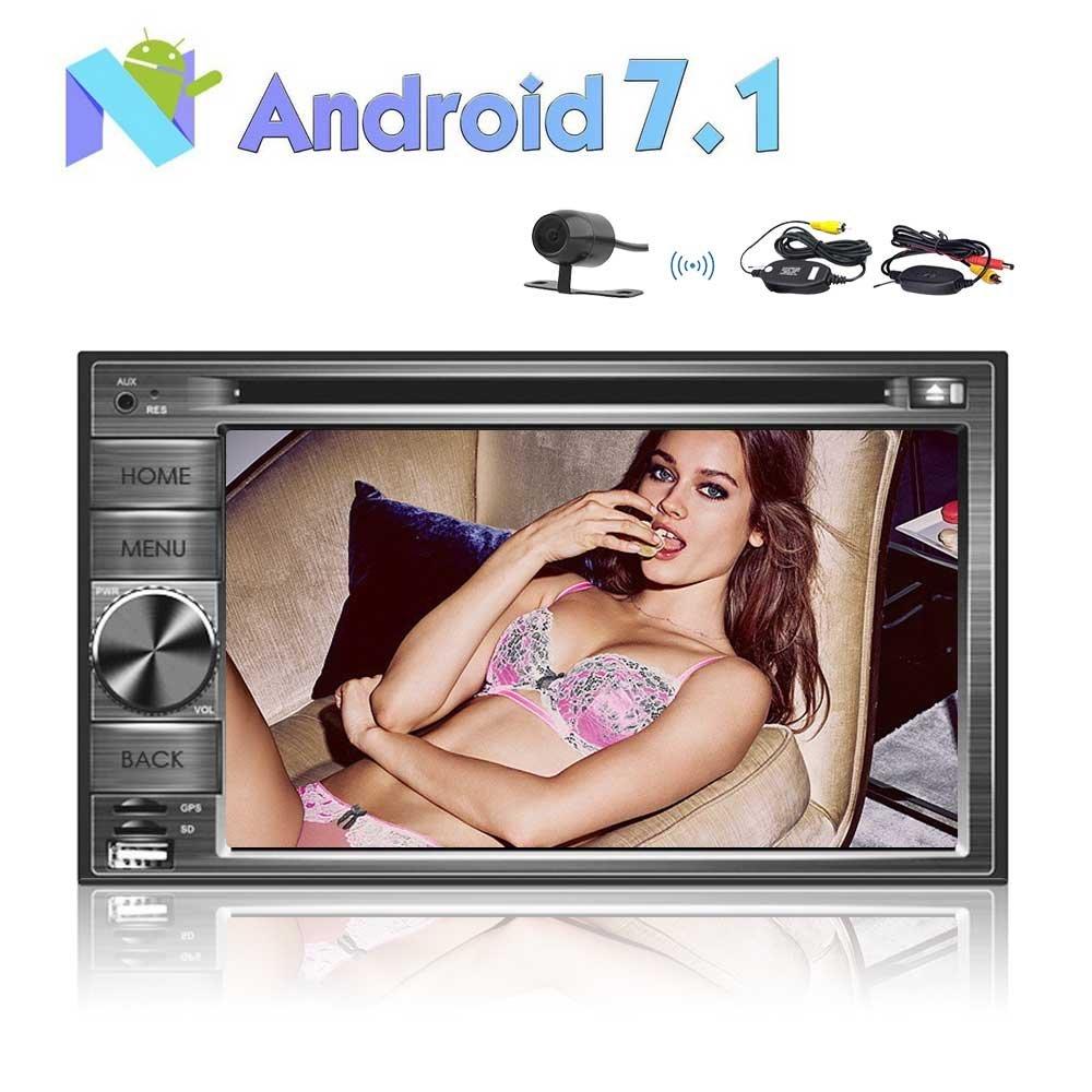 2ギガバイト32G 8コア6.2  2ディンのAndroid 7.1のカーステレオのラジオムーティタッチスクリーンGPSナビゲーションDVDワイヤレスバックアップカメラとプレイヤーサポート3 / 4G WIFIのBluetooth OBD2ミラーリンク B0778L3ZDQ