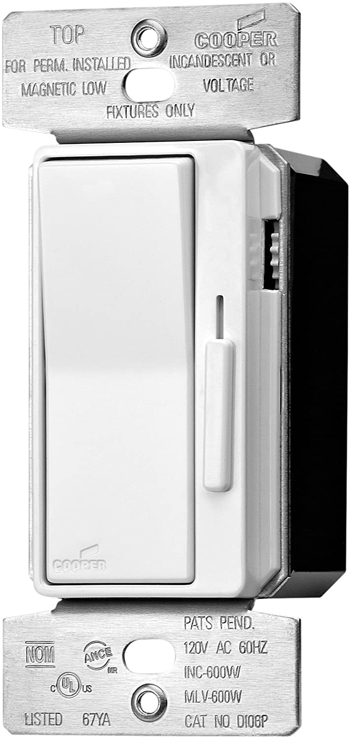 Eaton DLC03P-W 300-Watt Dimmable LED/Compact Fluorescent/600-Watt Incandescent/Halogen Decorator Dimmer with Preset White - Wall Dimmer Switches - Amazon. ...  sc 1 st  Amazon.com : cooper wiring devices aspire - yogabreezes.com