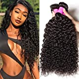Julia 10A Indian Virgin Curly Hair Weave 3 Bundles 12 10 8 inch 100% Unprocessed Remy Human Hair Extensions 95-100g/pc Natura