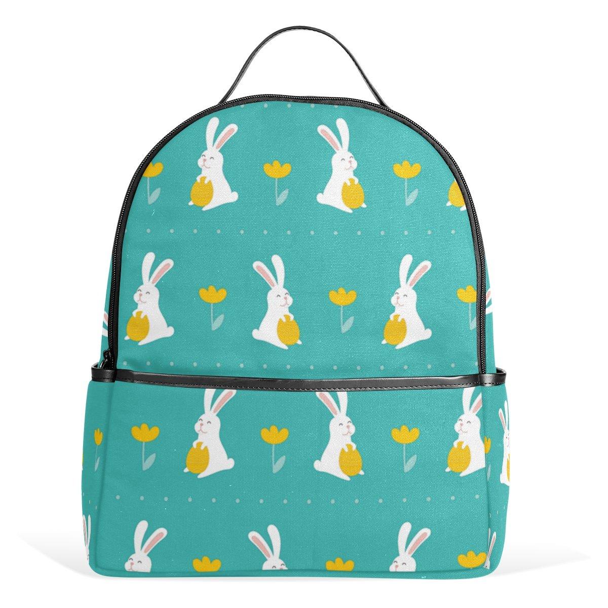 96d35972fc19 Amazon.com: Happy Easter Day Bunny Egg Unisex Canvas School College ...