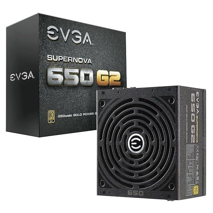 EVGA Supernova 650 G2, 80+ Gold 650W, Totalmente Modular, Modo Eco EVGA, Garantia de 7 Anos, acompanha testador Power On Self Tester para Fonte de alimentação, 220-G2-0650-Y2 (EU)