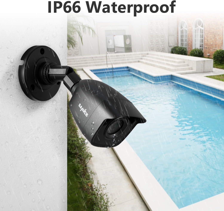 2 C/ámaras Sistema de Vigilancia 1080P C/ámara Bala de Videovigilancia 1TB HDD SANNCE Kit de Seguridad CCTV 4CH 1080N DVR con 1TB Disco Duro de Vigilancia