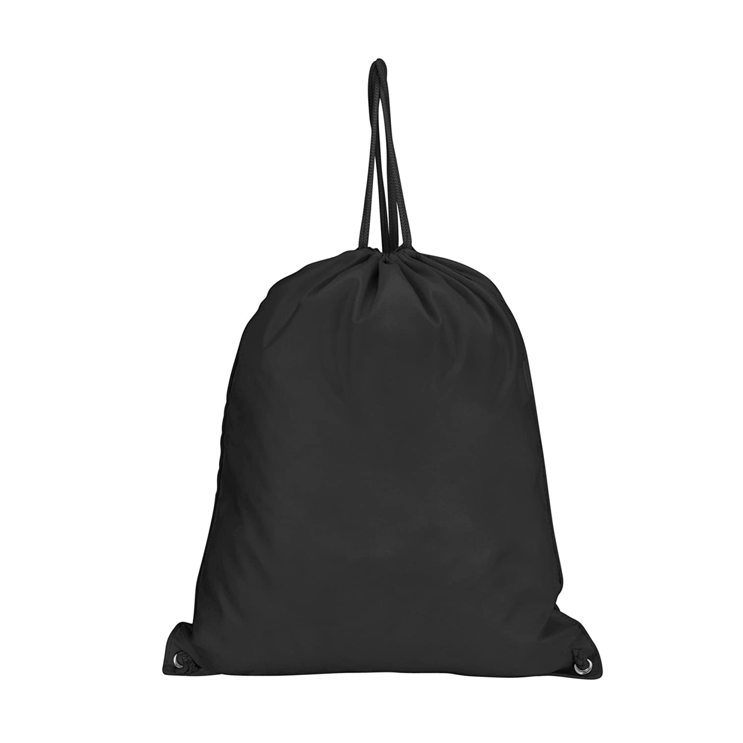 DALIX Drawstring Backpack Sack Bag DT-008-Black Red, Blue, Black, Yellow, Pink, Navy