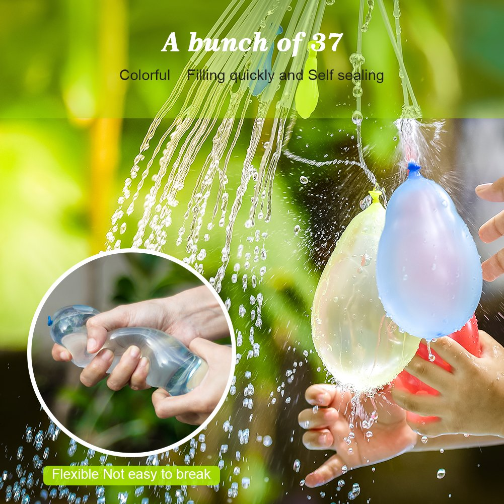 MAOXIAN Water Balloons for Kids Girls Boys Balloons Set Party Games Quick Fill Water Balloons (592 Pack) Swimming Pool Outdoor Summer Fun (Multicolored) by MAOXIAN (Image #2)