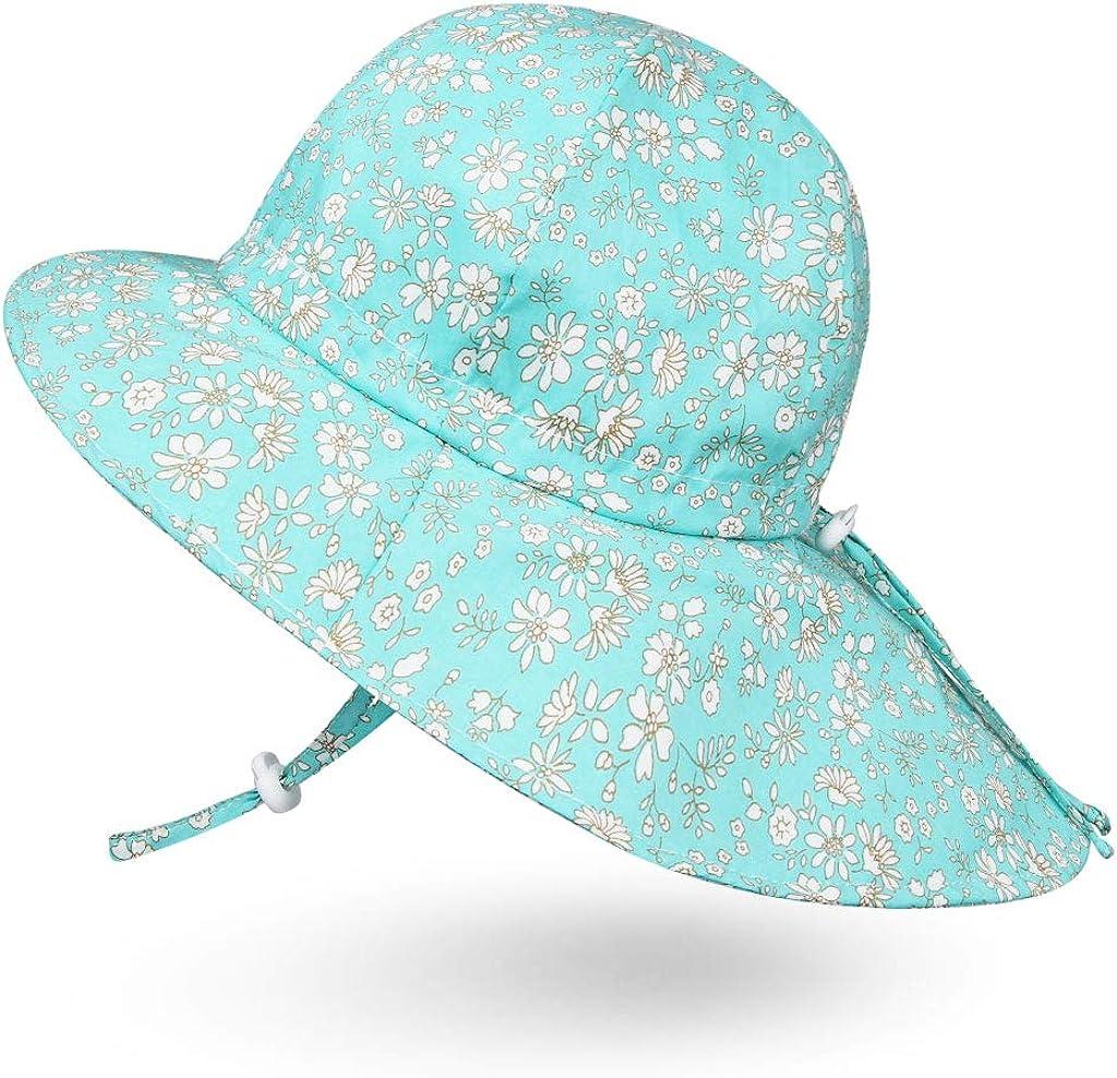 Ami/&Li Bambino Cappello Collo Protezione Bambini Cotone UPF 50 Cappello da Sole Ragazza Ragazzo Infantile