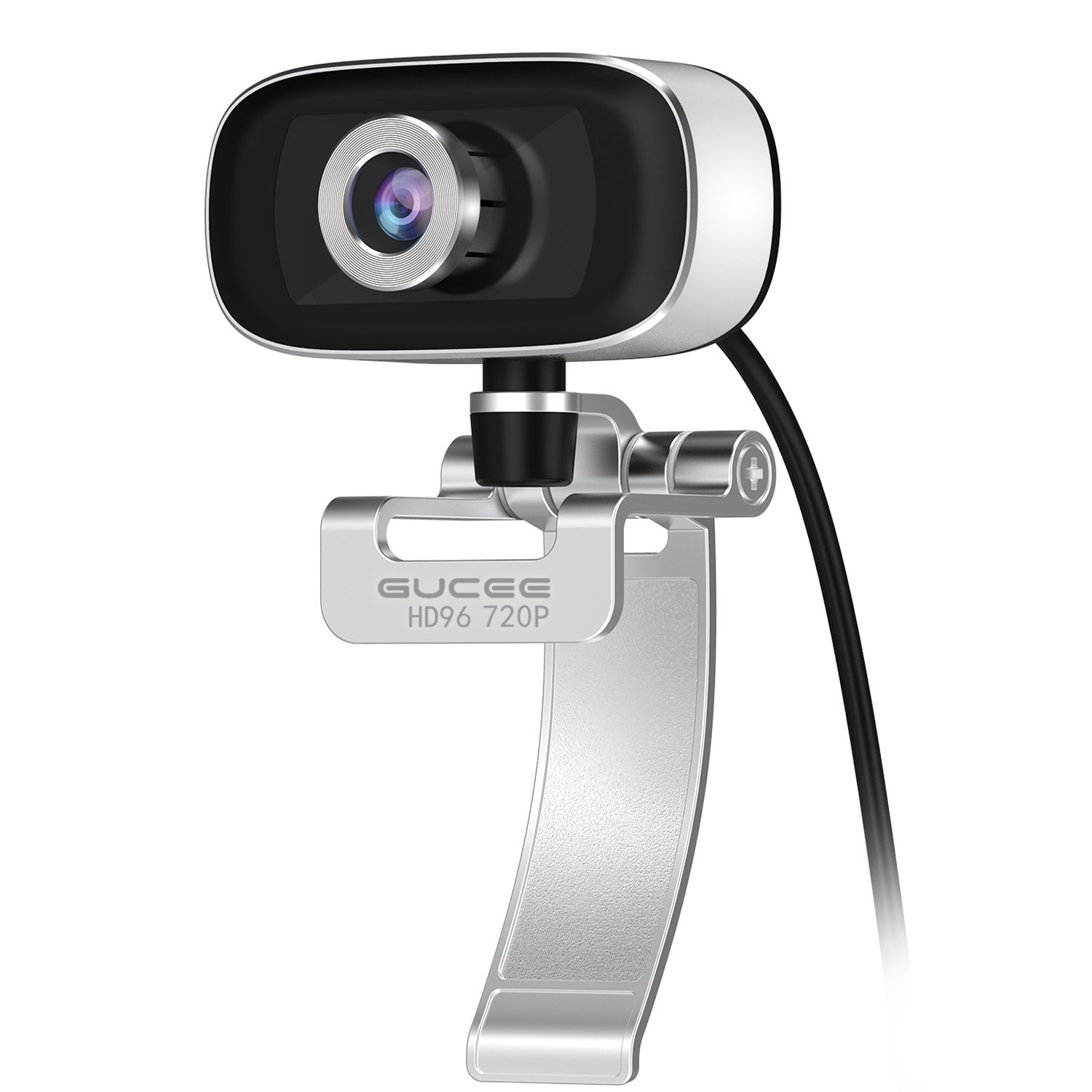 GUCEE HD96 720P HD Webcam with Tripod Ready Base (Tripod Not Included), Web Camera HD Microphone Wide Angle USB Plug and Play, Widescreen Calling Recording for Skype, Win 7 / 8 / 10, Apple Mac OS X