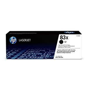 HP 83X (CF283X) Black High Yield Toner Cartridge for HP LaserJet Pro M201 M201dw M225dn M225dw