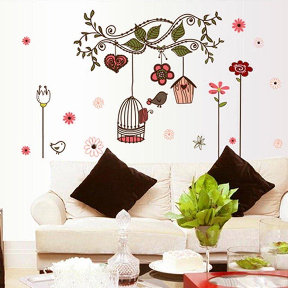 Aimtoppy Bird Cage Wall Sticker Home Art Decor Wall Stickers Living Room Decals Amazon Com