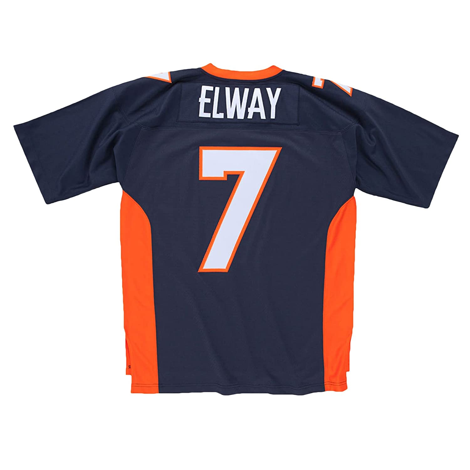 Amazon.com   Mitchell   Ness John Elway Denver Broncos Navy Throwback Jersey    Sports Fan T Shirts   Sports   Outdoors bc3b7ef75