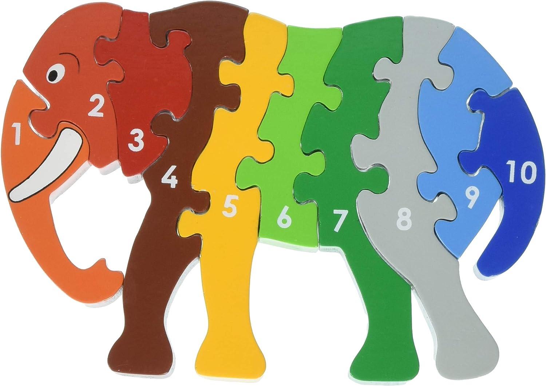 Lanka Kade NJ65 Dinosaur 1-10 Jigsaw Puzzle Prodotto USA