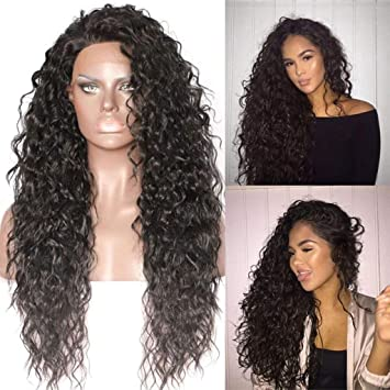 Amazon.com   RedBrowm 8 Curly Wig Glueless Full Lace Wigs Black Women  Indian Remy Human Hair Lace Front   Beauty 22e8476a8a