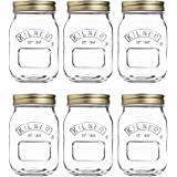 Kilner Preserve Jar Fruit Lid, Glass, Transparent, 0.5 Litre. Pack of 6 Jars and 6 Lids