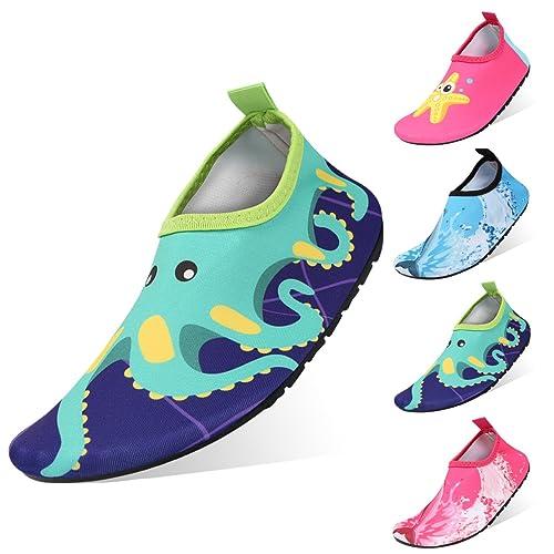 Zapatos de Agua Niño, Padcod Zapatos de Agua de Natación Zapatos de Playa Unisex Descalzo