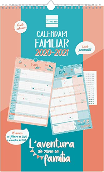 Oferta amazon: Finocam - Calendario de Pared Familiar 16 Meses 2020-2021 250x400 Mes Vista Aventura Catalán