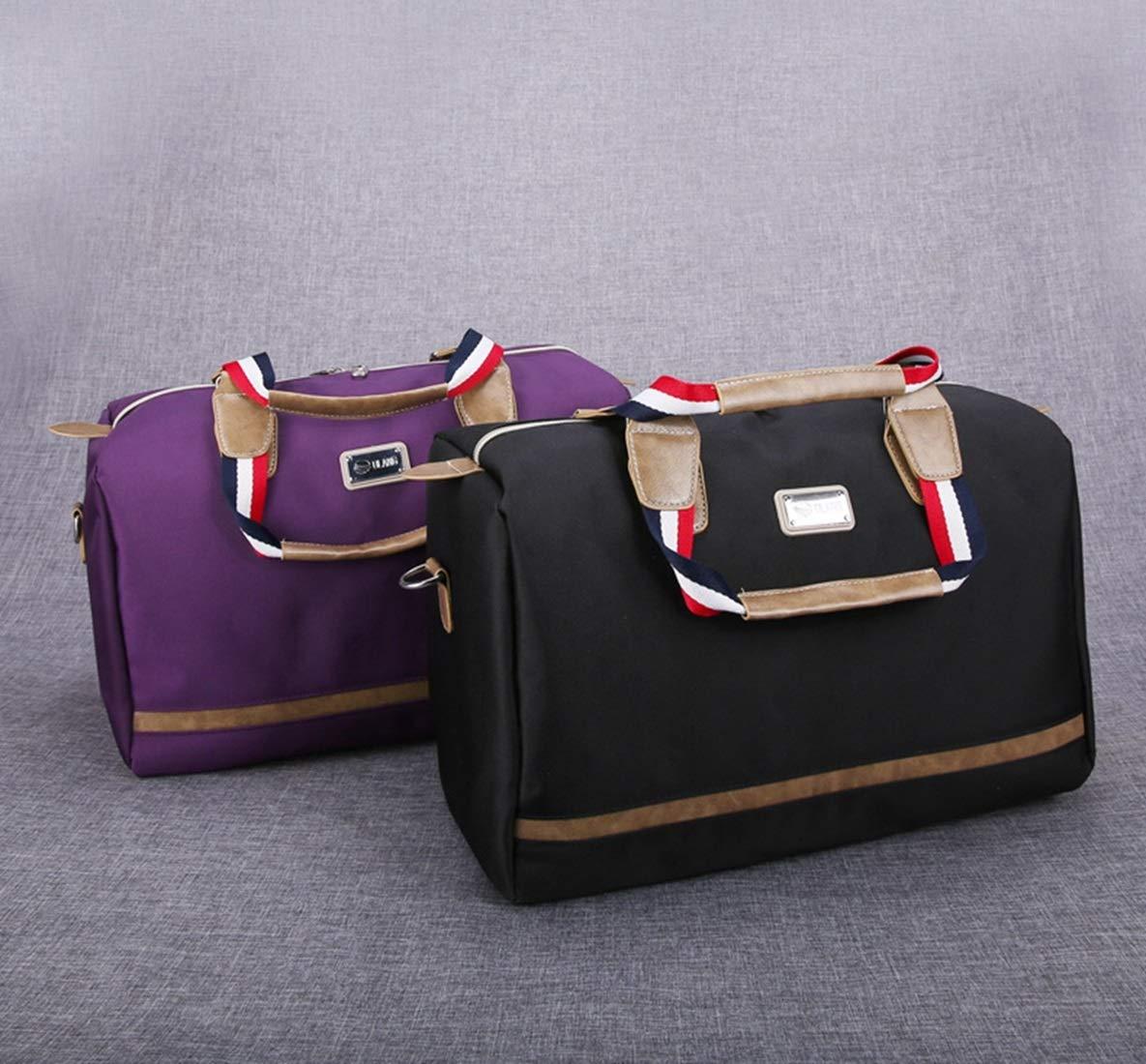 Color : Purple Carriemeow Hand Bag Male Large Capacity Waterproof Oxford Cloth Bag Luggage Bag Business Trip Package Ladies Travel Bag