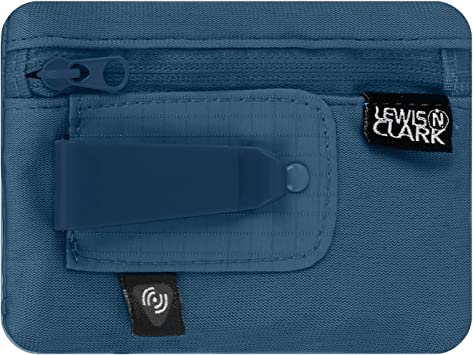 Lewis N. Clark RFID Blocking Hidden Clip Stash Money Belt Travel Pouch + Credit Card/Id Holder for Women & Men, Charcoal, One Size