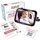 ULTRA ADJUSTABLE Baby Car Mirror To See Infant in Rear Facing Car Seat   CLAMPS FIRMLY on Headrest Post for SUPERIOR SAFETY,
