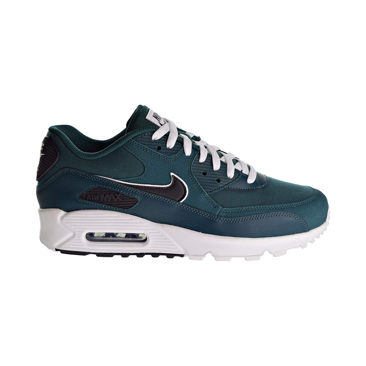 hot sales aaac2 09681 Galleon - NIKE Mens Air Max 90 Essential Running Shoes Rainforest Oil Grey White  AJ1285-301 Size 13