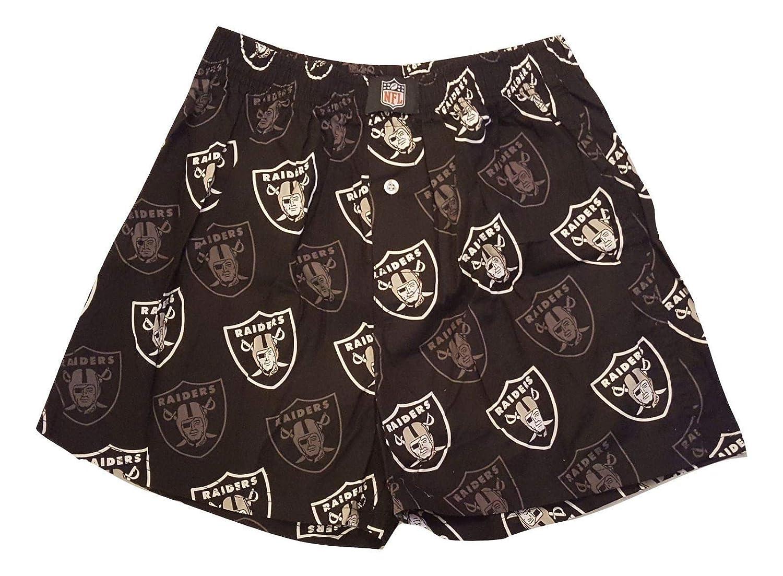 Oakland Raiders NFL Team Logo Boxer Shorts Mens Black Printed Underwear