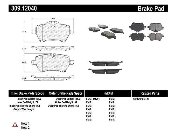 amazon com stoptech 309 12040 street performance front brake pad rh amazon com 2010 Mini Cooper Fuse Diagram 2010 Mini Cooper Fuse Diagram