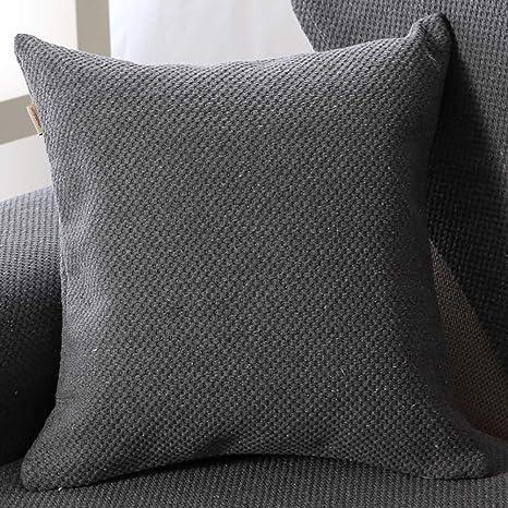 Color sólido Algodón Protector para sofás Vendimia Tejidas a ...