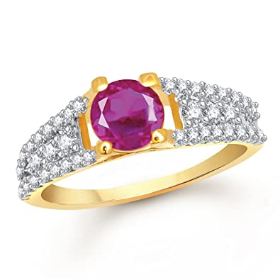 Meenaz Ruby 24k Ring South Indian Traditional Gold Ring For Girls