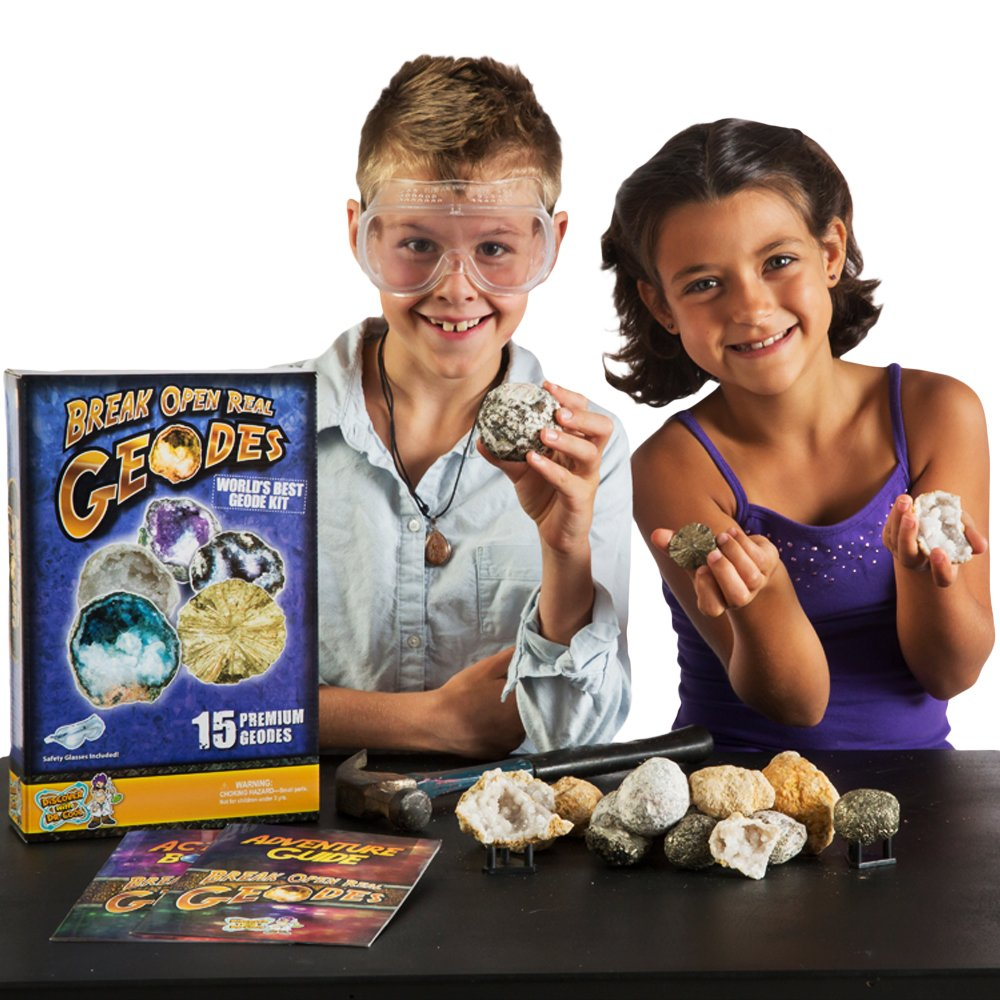 Worlds Best Geode Kit  Crack Open 15 Rocks and Find Crystals! by Discover with Dr. Cool (Image #4)