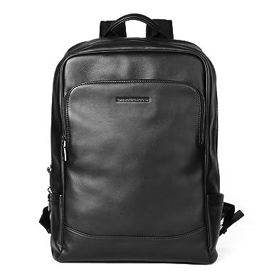 Amazon.com   Sharkborough Men's Backpack Genuine Leather Business ...